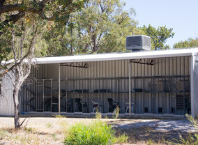 Cats can freely move between the inside air conditioned run and their outside enclosure