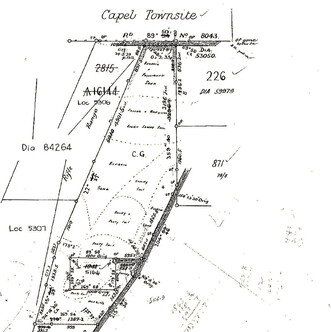 Survey sketch of our property by surveyor M. Terry(30 November 1920)